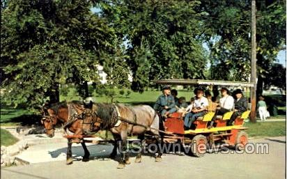 Horse-Drawn Carriages - Mackinac Island, Michigan MI Postcard