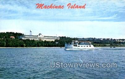 A Passenger Boat - Mackinac Island, Michigan MI Postcard