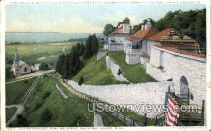 South Parapet, Fort Mackinac - Mackinac Island, Michigan MI Postcard