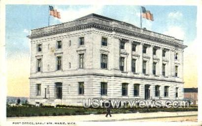 Post Office - Sault Ste Marie, Michigan MI Postcard