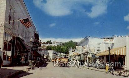 Main Street - Mackinac Island, Michigan MI Postcard