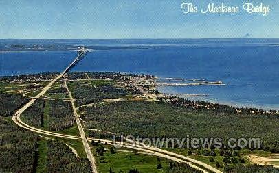 The Mackinac Bridge - MIsc, Michigan MI Postcard
