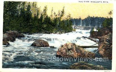 Dead River - Marquette, Michigan MI Postcard