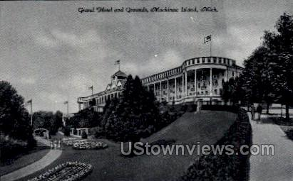 Grand Hotel and Grounds - Mackinac Island, Michigan MI Postcard