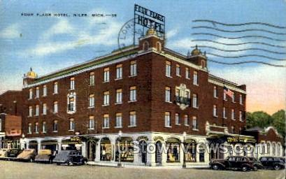 Four Flags Hotel - Niles, Michigan MI Postcard