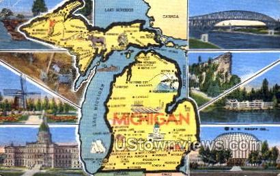 Lake Michigan - MIsc Postcard