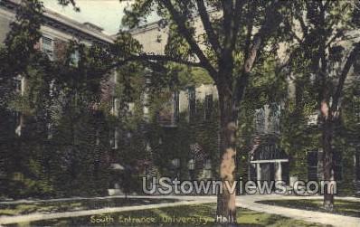 South Entrance, University Hall - MIsc, Michigan MI Postcard