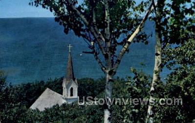 The MiddleVillage Church - MIsc, Michigan MI Postcard