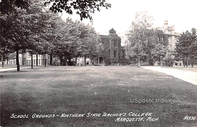 School Grounds - Marquette, Michigan MI Postcard