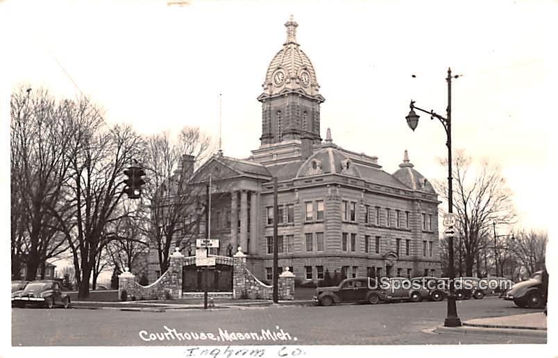 Court House - Mason, Michigan MI Postcard