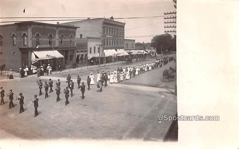 Marching Band, Parade - MIsc, Michigan MI Postcard