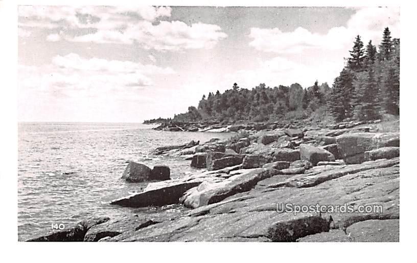 Shore Scene - MIsc, Michigan MI Postcard