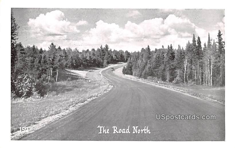 The Road North - MIsc, Michigan MI Postcard
