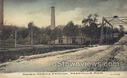 Water Works Station - Niles, Michigan MI Postcard