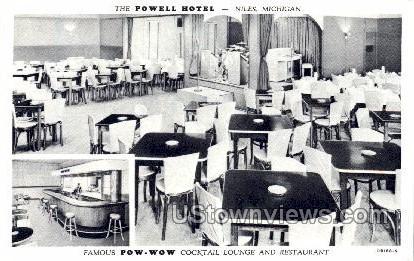 The Powell Hotel - Niles, Michigan MI Postcard