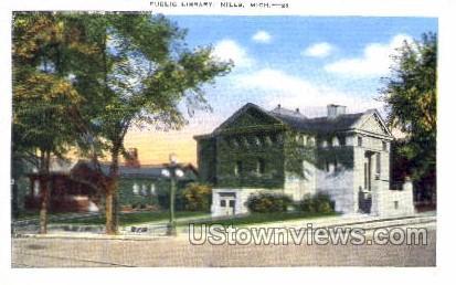 Public Library  - Niles, Michigan MI Postcard