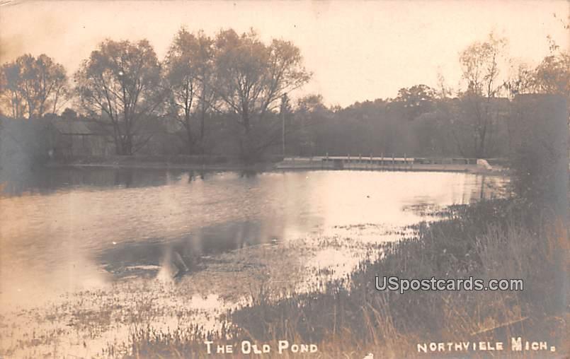 The Old Pond - Northville, Michigan MI Postcard