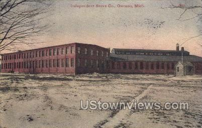 Independent Stove Co.  - Owosso, Michigan MI Postcard