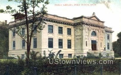 Public Library  - Port Huron, Michigan MI Postcard