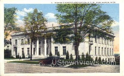 Woman's Benefit Association, O.T.M. - Port Huron, Michigan MI Postcard