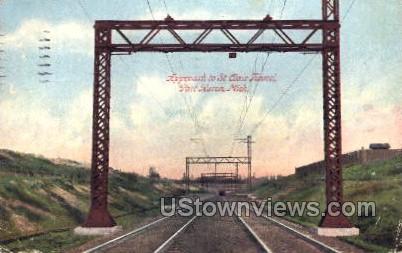 Approch to St. Clair Tunnel - Port Huron, Michigan MI Postcard