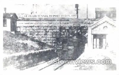 Reproduction- St. Clair Tunnel - Port Huron, Michigan MI Postcard