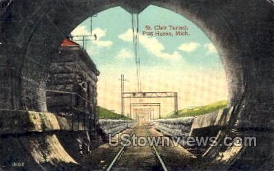 St. Clair Tunnel - Port Huron, Michigan MI Postcard