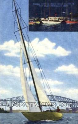 Black River - Port Huron, Michigan MI Postcard