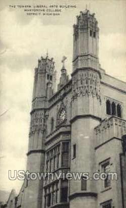 The Tower, Liberal Arts Building - Detroit, Michigan MI Postcard