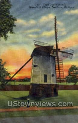 Cape Cod Windmill - Dearborn, Michigan MI Postcard