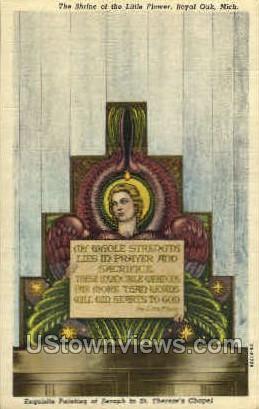 The Shrine of the Little Flower - Royal Oak, Michigan MI Postcard