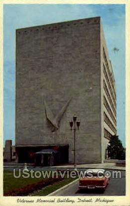 Veterans Memorial Building - Detroit, Michigan MI Postcard