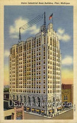 Union Industrial Bank Building - Flint, Michigan MI Postcard