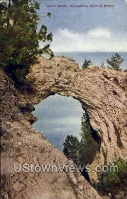 Arch Rock - Mackinac Island, Michigan MI Postcard