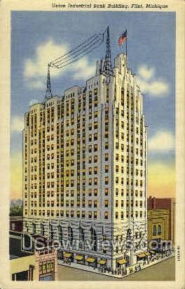 union Industrial Bank   - Flint, Michigan MI Postcard