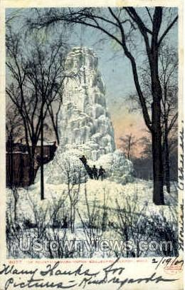 Ice Fountain  - Detroit, Michigan MI Postcard