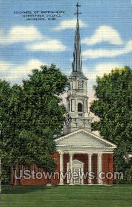 Chapel of Martha-Mary - Dearborn, Michigan MI Postcard