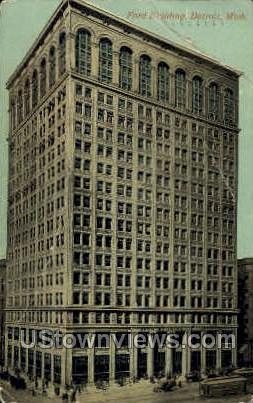 Ford Building - Detroit, Michigan MI Postcard
