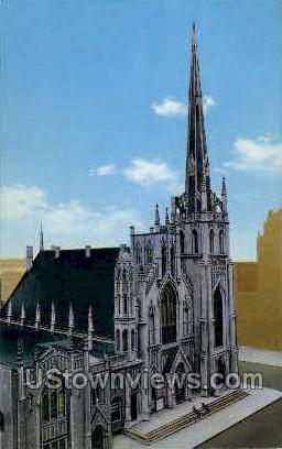 Fort Street Pesbyterian Church - Detroit, Michigan MI Postcard
