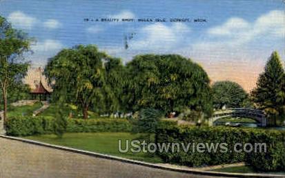 A Beauty Spot - Detroit, Michigan MI Postcard