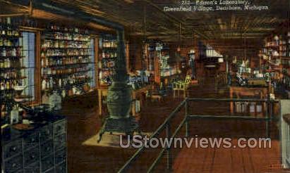 Edison's laboratory - Dearborn, Michigan MI Postcard
