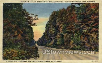 A Haven for Fisherman and Hunters - MIsc, Michigan MI Postcard