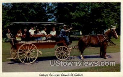 Village Carriage - Dearborn, Michigan MI Postcard