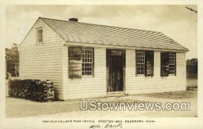 Old Village Post Office - Dearborn, Michigan MI Postcard