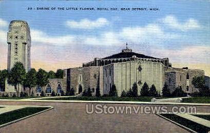 Shrine of the Little Flower, Royal - Detroit, Michigan MI Postcard