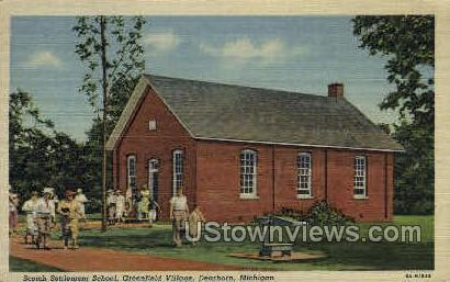 Scotch Settlement School - Dearborn, Michigan MI Postcard