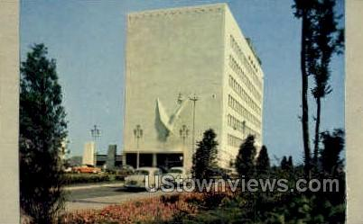 The Veterans Memorial Building - Detroit, Michigan MI Postcard