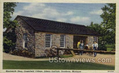 Blacksmith Shop - Dearborn, Michigan MI Postcard