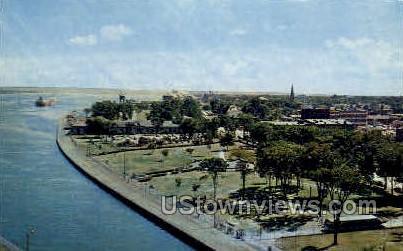View of Government Park - Sault Ste Marie, Michigan MI Postcard