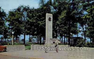 Entrance to Soo Locks - Sault Ste Marie, Michigan MI Postcard